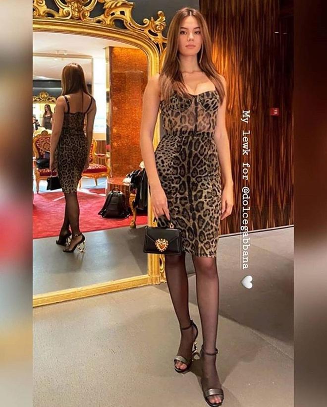 Pha đụng hàng tại trận: Catriona Gray diện đầm y hệt siêu mẫu Ý tại show Dolce & Gabbana, người an toàn người chất chơi - ảnh 3