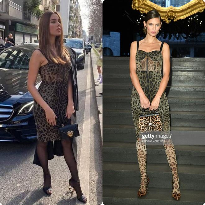 Pha đụng hàng tại trận: Catriona Gray diện đầm y hệt siêu mẫu Ý tại show Dolce & Gabbana, người an toàn người chất chơi - ảnh 8