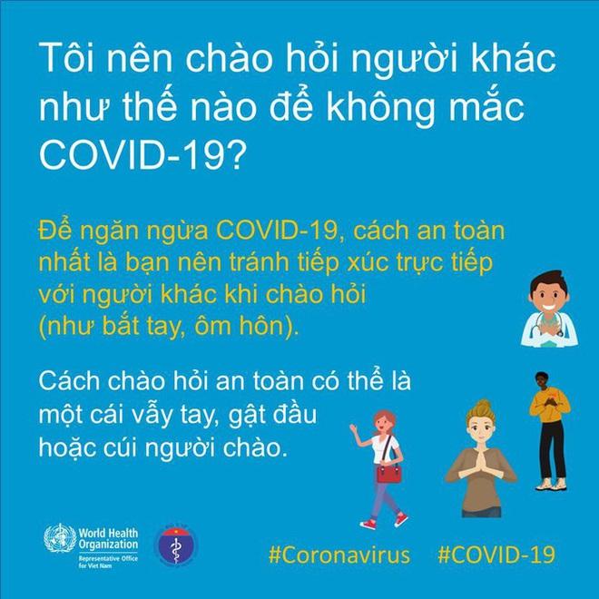 Chào hỏi trong mùa dịch COVID-19: Bộ Y Tế và WHO chỉ dẫn cách chào hỏi an toàn nhất - Ảnh 4.