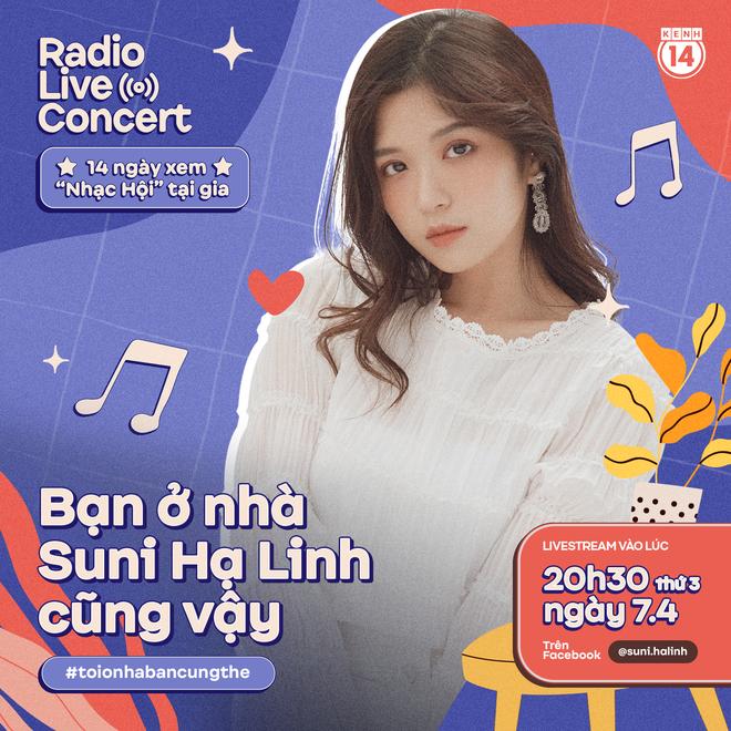 Ở nhà không sao mà vì Suni Hạ Linh đây rồi, 8h30 tối bật Radio Live Concert cùng nhau hát hò thì dịch nào rồi cũng sẽ qua! - Ảnh 1.