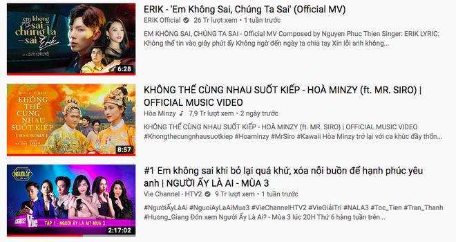 Ra mắt 2 ngày nhưng chỉ dừng ở #2, Hòa Minzy sốt ruột gọi điện xin Erik ẩn MV để vươn lên #1 trending Youtube và nhận được phản hồi ngã ngửa - Ảnh 7.