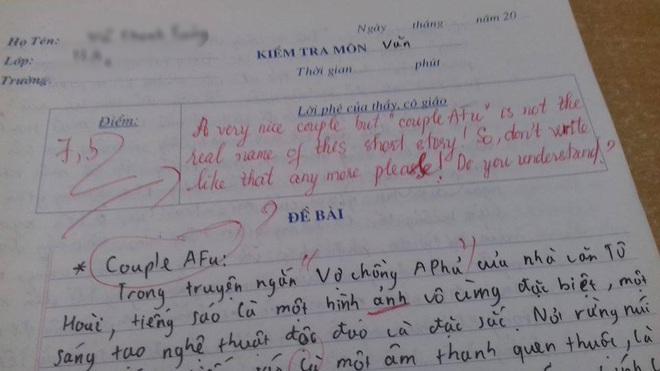 Kiểm tra Ngữ Văn nhưng ghi cả tiếng Anh vào bài làm, cô giáo phản đòn cực gắt khiến cộng đồng mạng cười nắc nẻ - Ảnh 1.