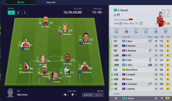 Soi đội hình tiền tỷ của Độ Mixi, Cris Phan, Vinh Râu FAPTV và tuyển thủ Đình Trọng trong FIFA Online 4 - Ảnh 5.