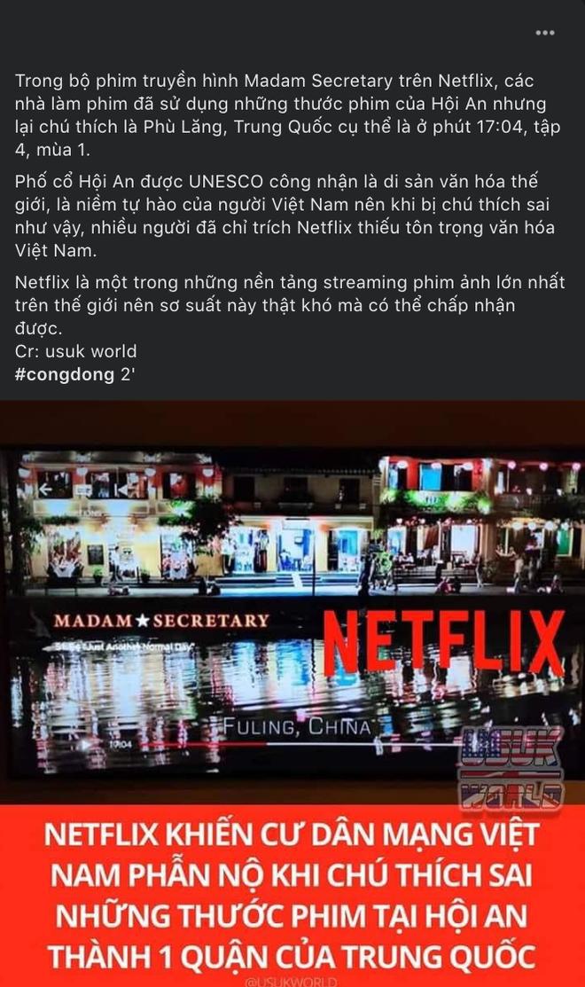 Phim Mỹ trên Netflix gây phẫn nộ khi chú thích Hội An là địa danh Trung Quốc, xâm phạm chủ quyền nghiêm trọng! - Ảnh 1.
