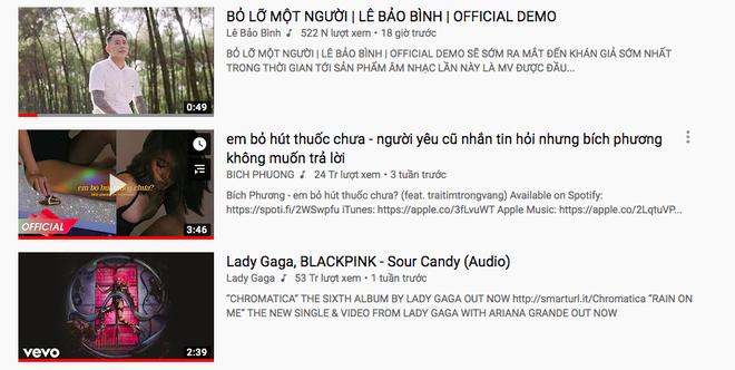 Chỉ vừa tung bản demo, nam ca sĩ Vpop đã vượt mặt cả Bích Phương lẫn siêu phẩm của Lady Gaga và BLACKPINK trên top trending Youtube - Ảnh 3.