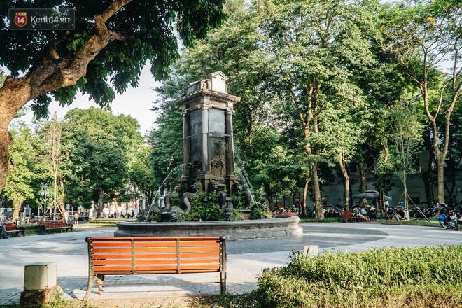 Đeo đai chống sập cho đài phun nước cổ nhất Hà Nội tồn tại 120 năm - Ảnh 10.