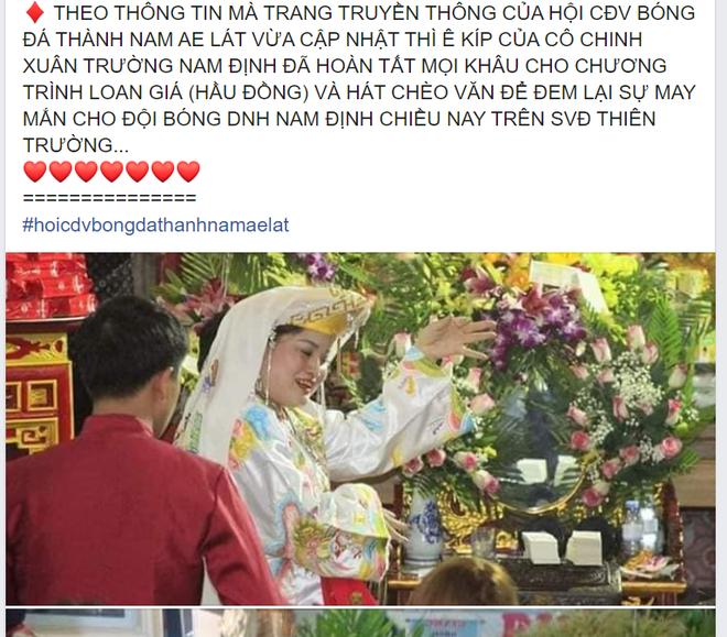 CĐV Nam Định chuẩn bị tiết mục độc, lạ ở V.League: Hát hầu đồng cầu may cho đội bóng - Ảnh 1.