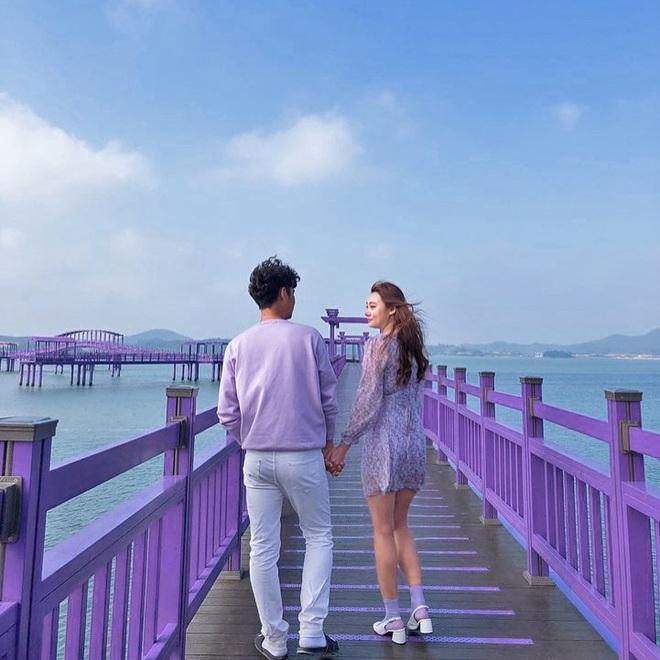 """Một hòn đảo kỳ lạ vừa xuất hiện ở Hàn Quốc đã tạo cơn bão check-in trên MXH: Tất cả mọi thứ đều nhuốm màu """"tím lịm tìm sim"""" - Ảnh 14."""