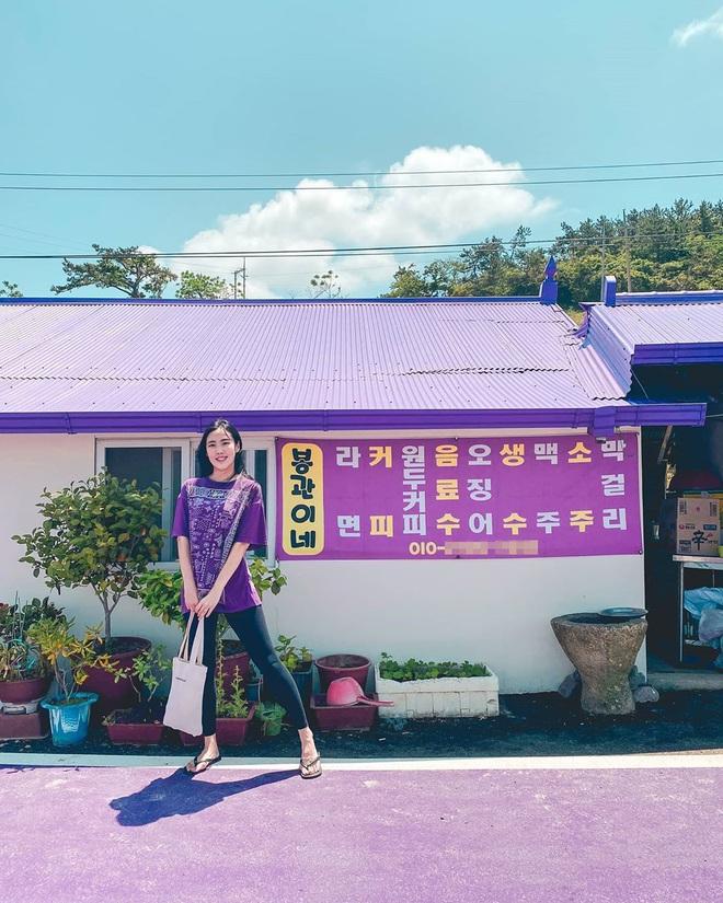 """Một hòn đảo kỳ lạ vừa xuất hiện ở Hàn Quốc đã tạo cơn bão check-in trên MXH: Tất cả mọi thứ đều nhuốm màu """"tím lịm tìm sim"""" - Ảnh 19."""