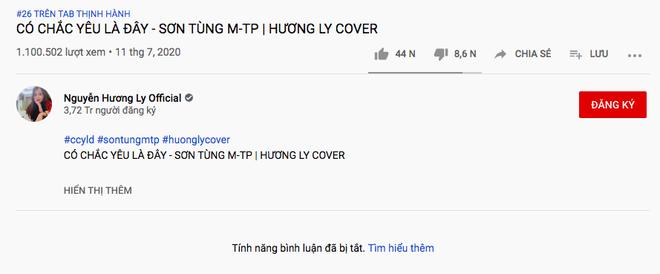 Bị cộng đồng mạng ồ ạt ném đá vì cover hit Sơn Tùng M-TP, Hương Ly vội vàng... tắt tính năng bình luận? - Ảnh 3.