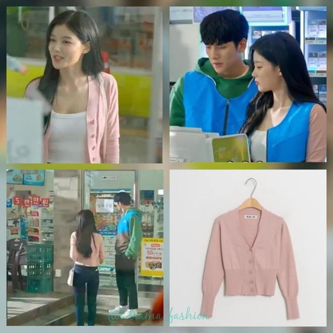 Vào vai cô nhân viên cửa hàng tiện lợi, mỹ nhân Kim Yoo Jung diện đồ hết sức bình dân, có nhiều món giá chỉ loanh quanh 500k - Ảnh 3.
