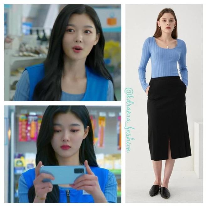 Vào vai cô nhân viên cửa hàng tiện lợi, mỹ nhân Kim Yoo Jung diện đồ hết sức bình dân, có nhiều món giá chỉ loanh quanh 500k - Ảnh 7.