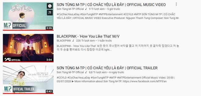Tưởng MV mới của Sơn Tùng debut ở #18 mà hết hồn, ai ngờ soán ngôi BLACKPINK #1 trending và lập luôn kỷ lục nhanh nhất Vpop! - Ảnh 3.