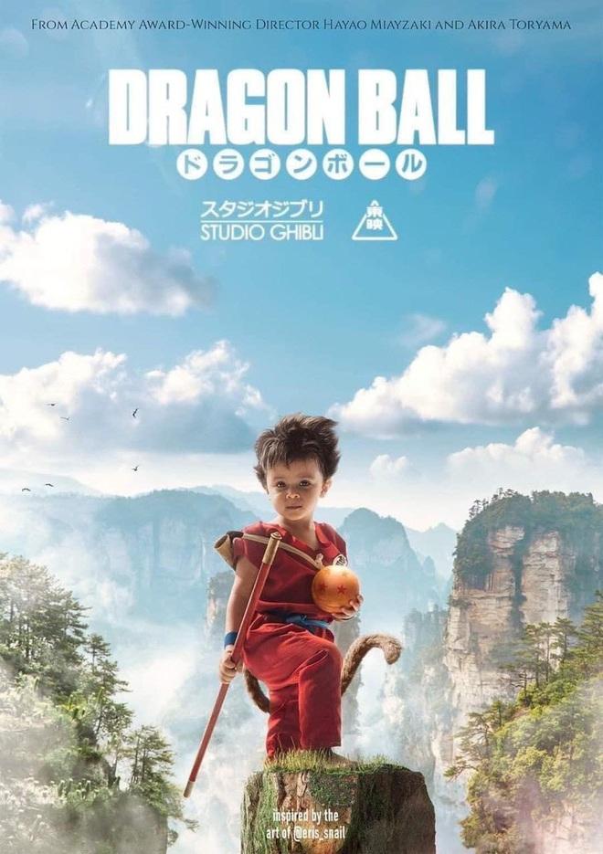 Dân mạng nhũn tim với Goku bé siêu cưng trên poster Bảy Viên Ngọc Rồng của Ghibli nhưng không hay biết mình vừa bị lừa? - Ảnh 1.