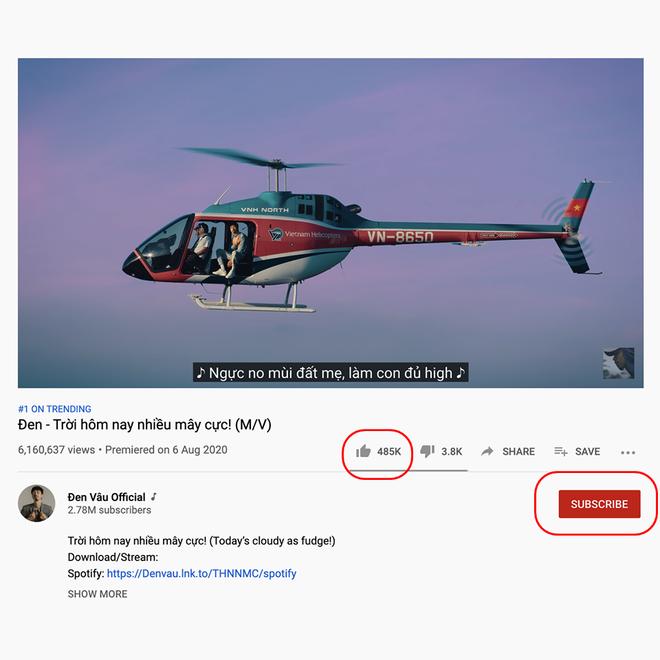 Khoe vội ảnh MV mới đạt top 1 trending, Đen Vâu vô tình lộ ra bằng chứng... không theo dõi kênh YouTube của chính mình? - Ảnh 2.