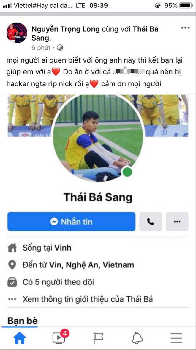 Hàng loạt cầu thủ bị mất tài khoản facebook chỉ trong một ngày, có người đang là tuyển thủ U22 Việt Nam 2