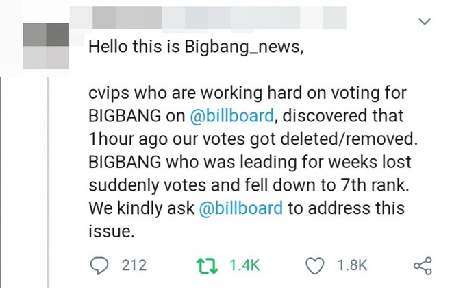 Tranh cãi: Fan BIGBANG và WINNER tố cáo Billboard can thiệp vào kết quả bình chọn để phần thắng nghiêng về phía BTS? - Ảnh 7.