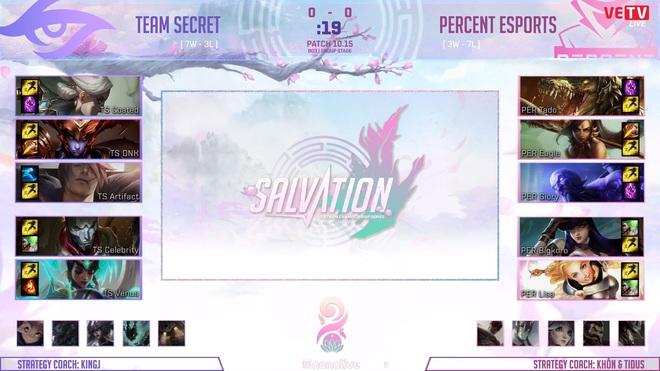VCS mùa Hè 2020: Percent Esports bất ngờ chiến thắng trước Team Secret, trận chiến giành vé vớt playoffs đang căng thẳng hơn bao giờ hết - Ảnh 1.