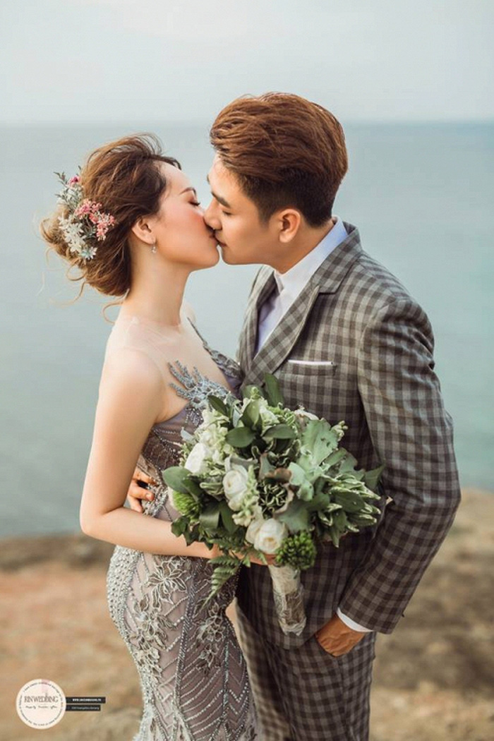 Huy Nam ngọt ngào hôn bà xã trong ảnh cưới đẹp như mơ - Ảnh 8.