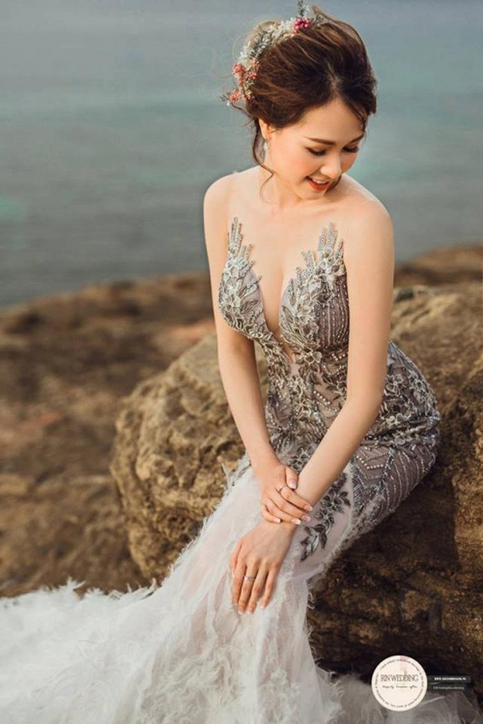 Huy Nam ngọt ngào hôn bà xã trong ảnh cưới đẹp như mơ - Ảnh 6.