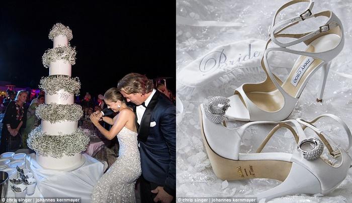 Công chúa của đế chế pha lê Swarovski rạng rỡ với chiếc váy cưới hơn 20 tỷ, đính 500.000 viên pha lê và nặng 46kg - Ảnh 5.