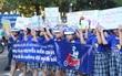 Hàng nghìn em học sinh tiểu học sôi động trong vũ điệu đội mũ bảo hiểm