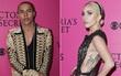"""Thảm đỏ Victoria's Secret Show: Váy lộ hình xăm của Lady Gaga và khuôn mặt """"búp bê Ken"""" của NTK Balmain, cái nào nổi hơn?"""