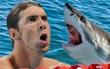 Siêu kình ngư Michael Phelps chỉ bơi kém cá mập đúng 2 giây
