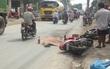 TPHCM: Ngã xuống đường sau va chạm với container, người đàn ông bị bánh xe cán tử vong