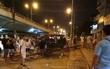 Hà Nội: Xe hơi mất lái húc bay ràu chắn tàu hỏa ngã 4 Trường Chinh - Giải Phóng