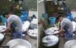 Đi ăn cỗ, chàng trai một mình rửa 6 mâm bát đĩa vì chị gái đau tay