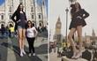 Người khác chỉ đứng đến đúng cạp quần của cô gái có đôi chân dài 133cm