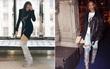"""Trong vô vàn fashionista Việt, có lẽ chỉ mình Nga Nguyễn dám chi 230 triệu đồng sắm đôi boot """"đụng hàng"""" Rihanna"""