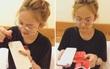 Muốn có iPhone đỏ, Thuý Vi dùng sơn móng tay và giấy dán màu để... làm mới điện thoại