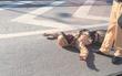 Hà Nội: Vi phạm giao thông, người điều khiển xe máy đâm CSGT gãy tay rồi bỏ đi