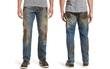 Mẫu quần jeans lấm lem bùn đất phong cách thợ hồ giá 9 triệu đồng