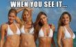 Ảnh 4 cô gái mặc bikini thách thức dân mạng tìm ra điều kỳ lạ