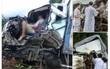 Sơn La: Xe tải va chạm kinh hoàng với xe bồn chở xăng, 2 người mắc kẹt trong cabin