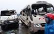 Xe bồn va chạm với xe khách, 4 người bị thương phải nhập viện cấp cứu