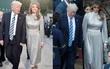 Vừa diện áo 1 tỷ, bà Melania Trump lại đặt may váy hơn 900 triệu để đi công du cùng chồng