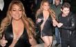 Bụng to đùi mỡ, Mariah Carey vẫn mặc bộ váy vừa hở vừa bó sát để đi hẹn hò trai trẻ