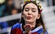 Cận cảnh các nữ cổ động viên xinh đẹp và dễ thương tại PyeongChang