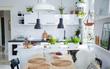 Những căn bếp màu xanh đẹp mê hoặc dành cho người muốn sống gần thiên nhiên