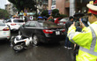 Tài xế say xỉn tông hàng loạt phương tiện trên phố Hà Nội