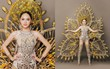 Chiêm ngưỡng bộ trang phục dân tộc độc đáo nặng tới 55 kg của Hương Giang tại Hoa hậu Chuyển giới Quốc tế