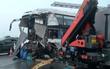 Hà Nội: Tai nạn liên hoàn trên cao tốc Pháp Vân - Cầu Giẽ, xe cứu hỏa nát bét sau va chạm kinh hoàng
