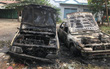TP. HCM: Một người đốt rác, hai chiếc ô tô bị thiêu rụi vì lửa cháy lan
