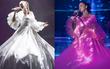 Bảo Anh đeo trang sức tiền tỉ, diện váy đổi màu lộng lẫy trên sân khấu