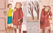 """Bộ tranh: Chuyện gì sẽ xảy ra khi bố mẹ và con cái """"đổi tính"""" cho nhau?"""