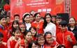 Hoa hậu Đỗ Mỹ Linh cùng hàng ngàn sinh viên tham dự khai mạc ngày hội hiến máu Chủ Nhật Đỏ 2018